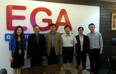 ผู้แทนประเทศเกาหลีใต้เยี่ยมชมและแลกเปลี่ยนความรู้ด้านไอทีร่วมกับ EGA