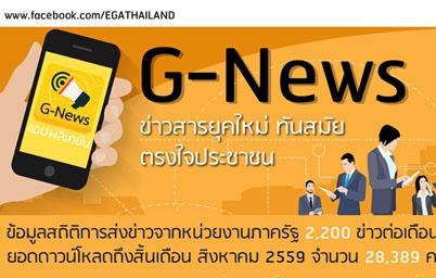 G-News ข่าวสารยุคใหม่ ทันสมัย ตรงใจประชาชน