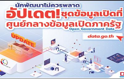 อัพเดตชุดข้อมูลเปิดภาครัฐที่ศูนย์กลางข้อมูลเปิดภาครัฐ data.go.th