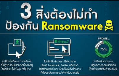 รู้ทันโจรดิจิทัล อย่าทำ 3 สิ่งนี้ ป้องกัน Ransomware